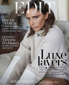 She's one of the most glamorous women in the world, but just how does designer Victoria Beckham do it? With her very own makeup line, Victoria Beckham shares the health and beauty tips she wears by Victoria Beckham Outfits, Victoria Beckham Stil, Fashion Cover, Big Fashion, Fashion Pics, Luxury Fashion, Spice Girls, David Beckham, Skin Problems