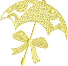 Sunny Umbrella free embroidery design