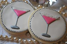 Pink Martini Decorated Sugar Cookies 12 by goosiegirl10 on Etsy, $33.00