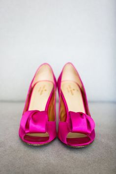 Hot Pink Kate Spade Bridal Shoes | Leftwich Event Specialists https://www.theknot.com/marketplace/leftwich-event-specialists-san-francisco-ca-646057 | Janae Shields Photography https://www.theknot.com/marketplace/janae-shields-photography-san-francisco-ca-158171