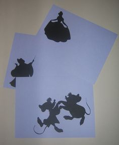 Cinderella Silhouettes <3 great for princess birthday party.