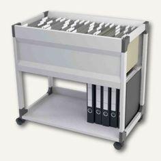 Durable Hängemappen-Wagen SYSTEM File Trolley, 1 Boden, grau, 378410