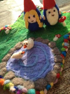 Gnome Playmat Playscape Reversible Duck Pond by ThePotOfGold