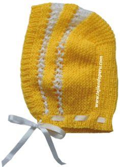 Tutorial: gorro tipo capucha tejido con lana e hilo en dos agujas o palitos!