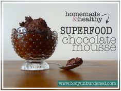 Homemade & healthy superfood chocolate mousse  Yummy yummy yummy, get in my tummy! I know, I sound like a 4-year-old. But this chocolate superfood mousse is just that good. So good, in fact, that I'm eating it for breakfast on this fine Saturday morning. I feel naughty and indulgent, like a kid who sneaks a spoonful of ice cream while her [...]