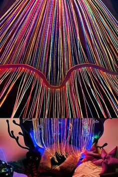 Sarah from EmbracingtheSpectrum.com shared these pics showcasing our UV Fiberoptics that she recommended to a client and had installed in their clinic. Lovely pics and love to see our sensory room products in action!