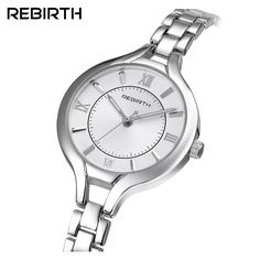 >> Click to Buy << Luxury Brand REBIRTH Fashion Quartz Watch Women Ladies Stainless Steel Bracelet Watches Casual Clock Female Dress Gift Relogio #Affiliate