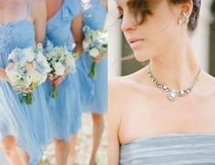 Peach and Blue Wedding Inspiration