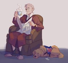 Malory and Dog by Azeher.deviantart.com on @DeviantArt