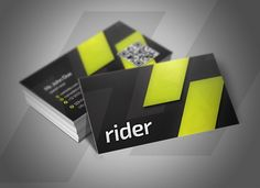 Rider Business Cards by Rafael Oliveira on @creativemarket