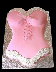 Sexy Pink Lingerie Bachelorette Party Cake ♥ Bridal Shower Party Cakes