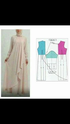 34 Ideas For Sewing Patterns Skirt Easy Source by artiesuharjanto hijab Long Dress Patterns, Dress Sewing Patterns, Blouse Patterns, Clothing Patterns, Skirt Sewing, Sewing Clothes, Diy Clothes, Clothes For Women, Abaya Pattern