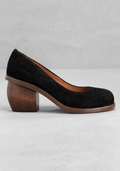 And Other Stories | Sculpted suede pumps | Black
