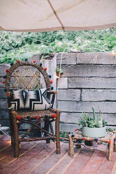 Pom pom chair. The Midsummer Mingle | Sycamore Street Press