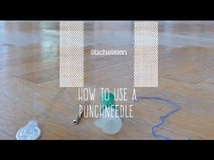 How to use a Punch Needle - Learn to stitch really fast - YouTube