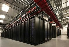 High-density server workloads inside a data hall on the Vantage Data Centers campus in Santa Clara, Calif. (Photo: Vantage Data Centers) From Data Center Frontier