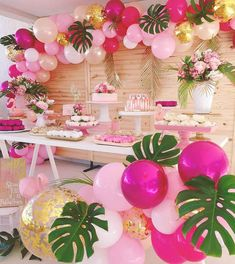 summer party decoration ideas- wonderful decoration ideas for over 40 summer . - 40 + summer party decoration ideas – wonderful decoration ideas for over 40 summer parties – b - Hawaiian Birthday, Flamingo Birthday, Luau Birthday, 1st Birthday Parties, Pink Flamingo Party, 1st Birthday Party Ideas For Girls, Third Birthday Girl, Indoor Birthday, Elegant Birthday Party