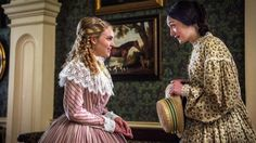 """Mercy Street: Watched it last night. Will watch more. The network's first American-produced drama in 10 years, """"Mercy Street"""" attempts to capture the complex realities of the Civil War through the nexus of a Union hospital. Sissi, Mercy Street Pbs, The Carrie Diaries, Fantasy Gowns, 1800s Fashion, Annasophia Robb, Gowns Of Elegance, Elegant Gowns, Period Costumes"""