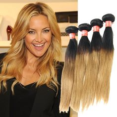 """3 Pcs/Lot Malaysian Straight Hair Extension Ombre Hair 10""""-30"""" Human Hair Weave  #wigiss #HairExtension"""