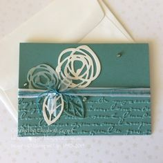 Love a wedding card, and needed some for a friend, so I made a few! I also think there is something special about a square card, these ...