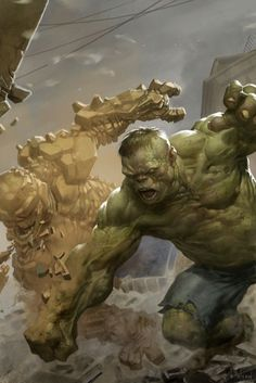 Hulk vs The Thing by Ben Olson