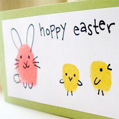 Now THIS is cute. Check out these adorable Easter bunnies and chicks that you can make using your fingerprint! It's a fun little craft for you and your kids to do, and you can make some seriously precious Easter cards or decorations using your art. ...