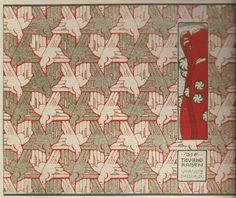 'A thousand ravens', endpaper design by Koloman Moser, 1901.