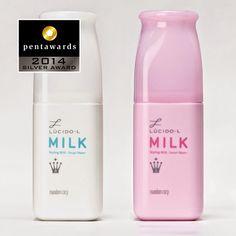 Silver Pentawards 2014, categoría cuerpo: cosméticos Marca: Lucido-LPowder In Milk, diseño: Cloud8 Inc., Japón