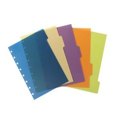 M by Staples Register (Taben seitlich) + beschriftbare Selbstklebe-Etiketten 5-farbig sortiert - DIN A5