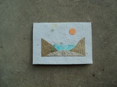 Recycled & Plantable Beach Card by Paperdandelions1 on Etsy, $3.50