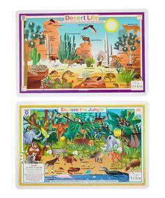 Love this Tot Talk Jungle & Desert Activity Place Mat Set by Tot Talk on #zulily! #zulilyfinds