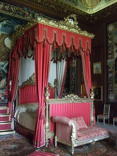 ♜ Shabby Castle Chic ♜ rich and gorgeous home decor - State Bed, Burghley House