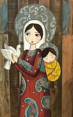 Mary and Jesus Religious Icons, Religious Art, Images Of Mary, Mama Mary, Blessed Mother Mary, Holy Mary, Mary And Jesus, Madonna And Child, Catholic Art
