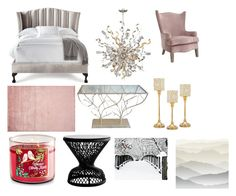 """""""Untitled #96"""" by destiny-mcgeough on Polyvore featuring interior, interiors, interior design, home, home decor, interior decorating, Haute House, Corbett Lighting, Godinger and York Wallcoverings"""