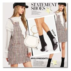 """#PolyPresents: Statement Shoes"" by svijetlana ❤ liked on Polyvore featuring Chloé, contestentry, polyPresents and shein"