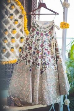 Looking for White and peach lehenga on hanger? Browse of latest bridal photos, lehenga & jewelry designs, decor ideas, etc. on WedMeGood Gallery. Anarkali, Churidar, Salwar Kameez, Sabyasachi Lehengas, Lehenga Choli, Kurti, Indian Wedding Outfits, Indian Outfits, Indian Clothes
