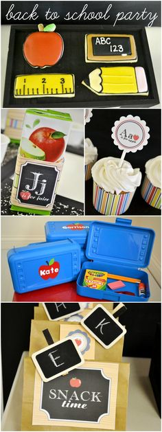 Throw a Back To School party to get kids excited and ready for first day!