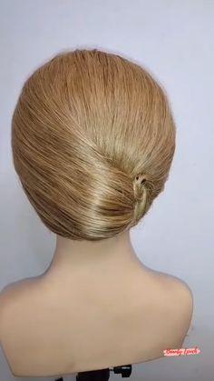 Hairdo For Long Hair, Bun Hairstyles For Long Hair, Girl Hairstyles, Messy Bun For Short Hair, Messy Buns, Hair Style Vedio, Hair Up Styles, Hair Videos, Hair Pieces