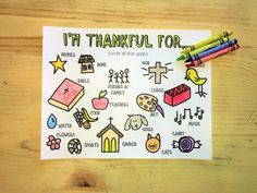 FREE Thankfulness Coloring Page for Kids