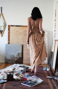 This is such an special dress with a super flattering fit and tie back - perfect for spring days and dates. It is hand dyed by Los Angeles brand The Odells and