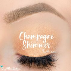 Limited Edition Champagne Shimmer ShadowSense is part of the Golden Lights Eyes Collection.  It is a soft gold eyeshadow with lots of shimmer.  #champagneshimmer #goldenlights #shadowsense