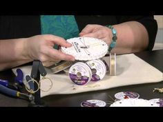 Video - Learn how to braid Soft Flex beading wire on a kumihimo board to make an easy and fun pair of earrings!