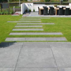 Tegels in gras