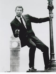 George Lazenby (Bond II)  On Her Majesty's Secret Service  Must find this lamp post and recreate the exact scene when I go to London...