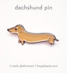 Dachshund Pin by Susie Ghahremani / boygirlparty.com