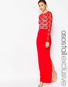 ASOS TALL Soft Lace Top Maxi Dress