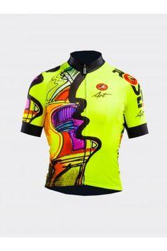 YELLOWMAN - ROSTI ART Mtb Clothing, Bike Wear, Cycling Jerseys, Cycling Outfit, Jersey Shirt, Sportswear, Men's Fashion, How To Wear, Shirts