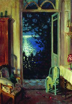 artishardgr:  Sergei Arsenevich Vinogradov - Summer Night 1915