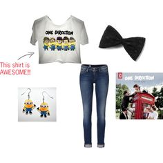 Dispicable me minion/one direction out fit! Amazing!!!!