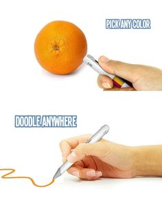 This chameleon pen has a color sensor to pick up whatever palette you choose in up to 16 million unique colors.